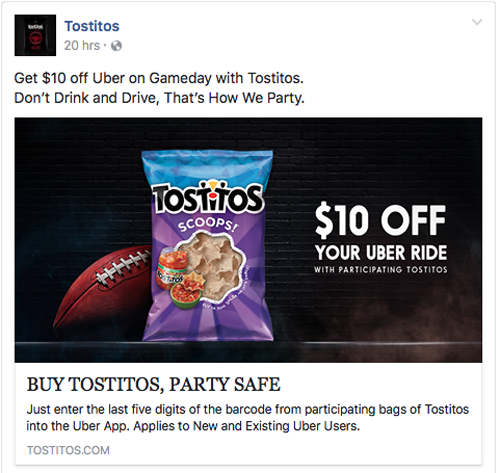 Tostitos on Facebook