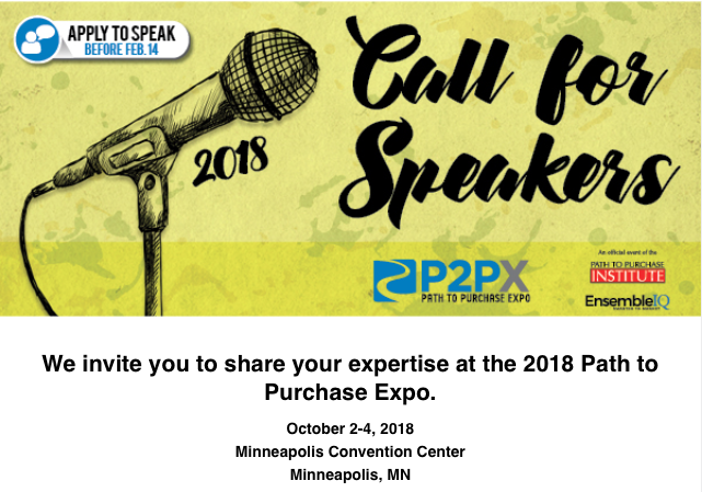 2018 Path to Purchase Expo     Call for Speakers | Path to Purchase IQ