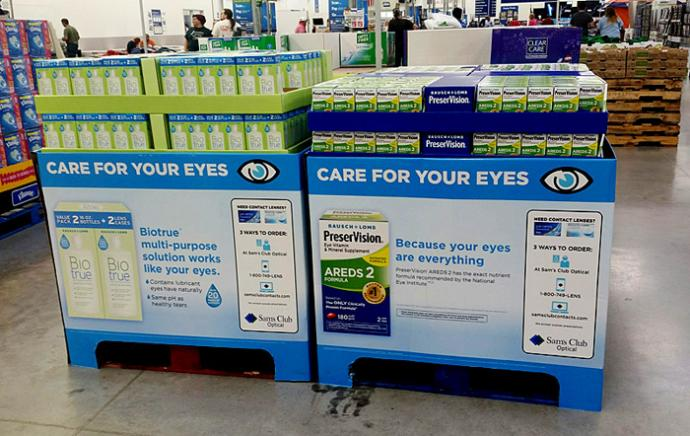 4d5ac694c54b The displays plug product benefits and invite shoppers to order contact  lenses at a store optical center