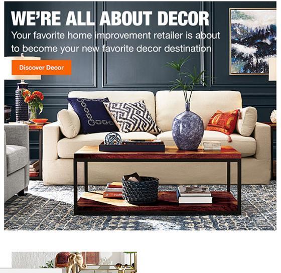 Home Depot Wants To Be A Decor Destination
