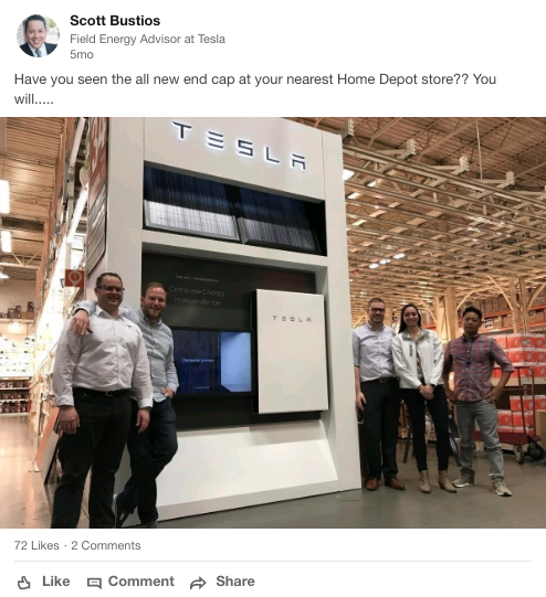 Tesla Pulling Out of Home Depot | Path to Purchase IQ