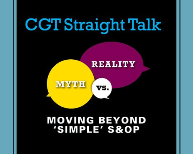 CGT Straight Talk Integrated Business Planning teaser image July 2017