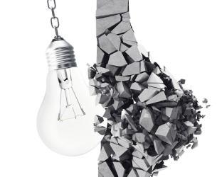 innovation disruption teaser image light bulb