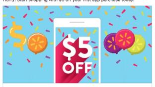 walmart mobile application incentive facebook