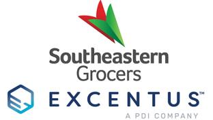 Southeastern Grocers and Excentus logos